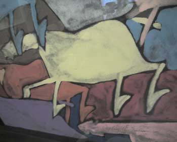 "Anthony Chee Emerson monotype, ""Multi-Horse"""