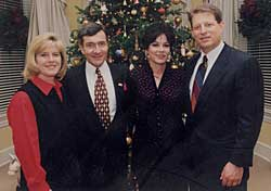 Al & Tipper Gore with Rick West and Cate Stetson